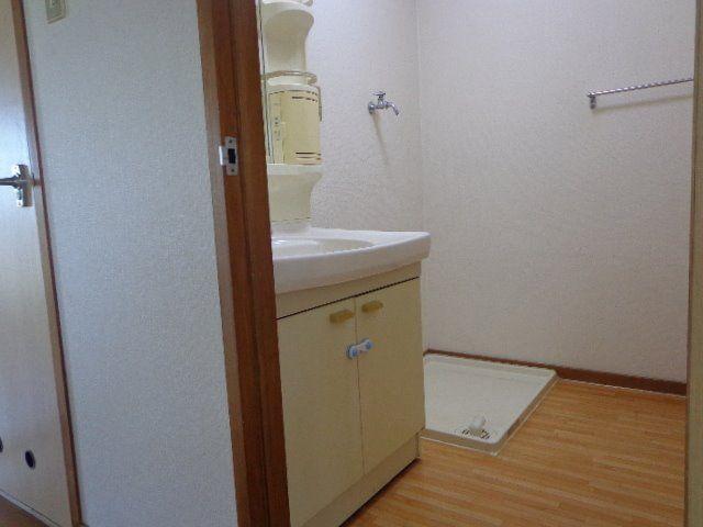 ドアを開けると洗面所