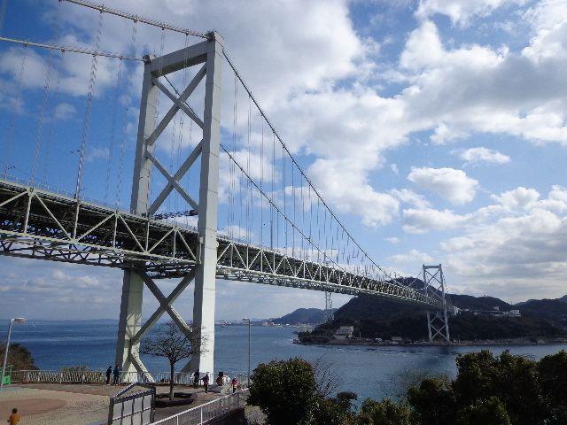 関門海峡にかかる「関門大橋」~「愛」は架け橋