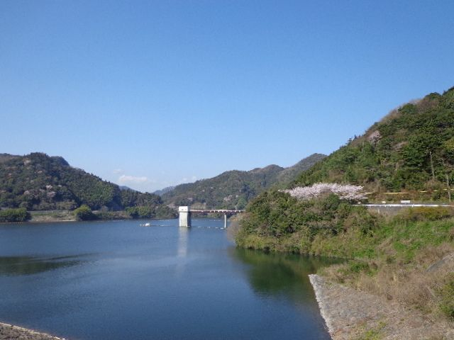 末武川ダム(米泉湖)の春景色~山口県下松市のダム