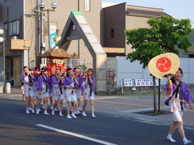 女神輿(おんなみこし)が可愛い~下松市「住吉神社」のお祭り